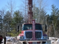 View of the drilling truck.