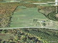 Aerial image of farm site for Conference Center.