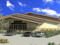 Architectural rendering of Conference Center.